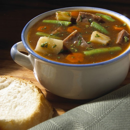 Beef and Vegetables Soup : Stock Photo