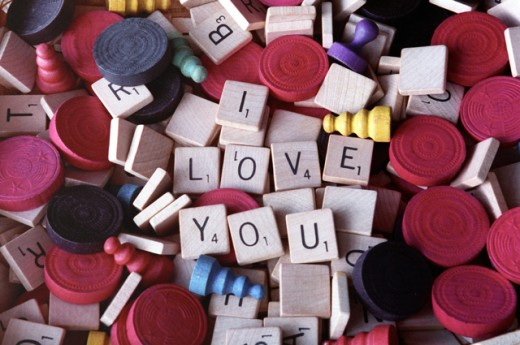Close-up of an I Love You message : Stock Photo