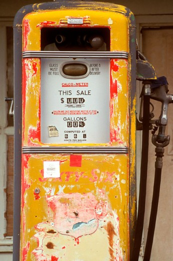 Stock Photo: 1574R-016841 Close-up of an abandoned fuel pump
