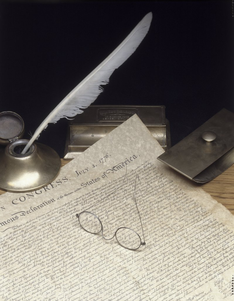 Stock Photo: 1574R-017976 Declaration of Independence
