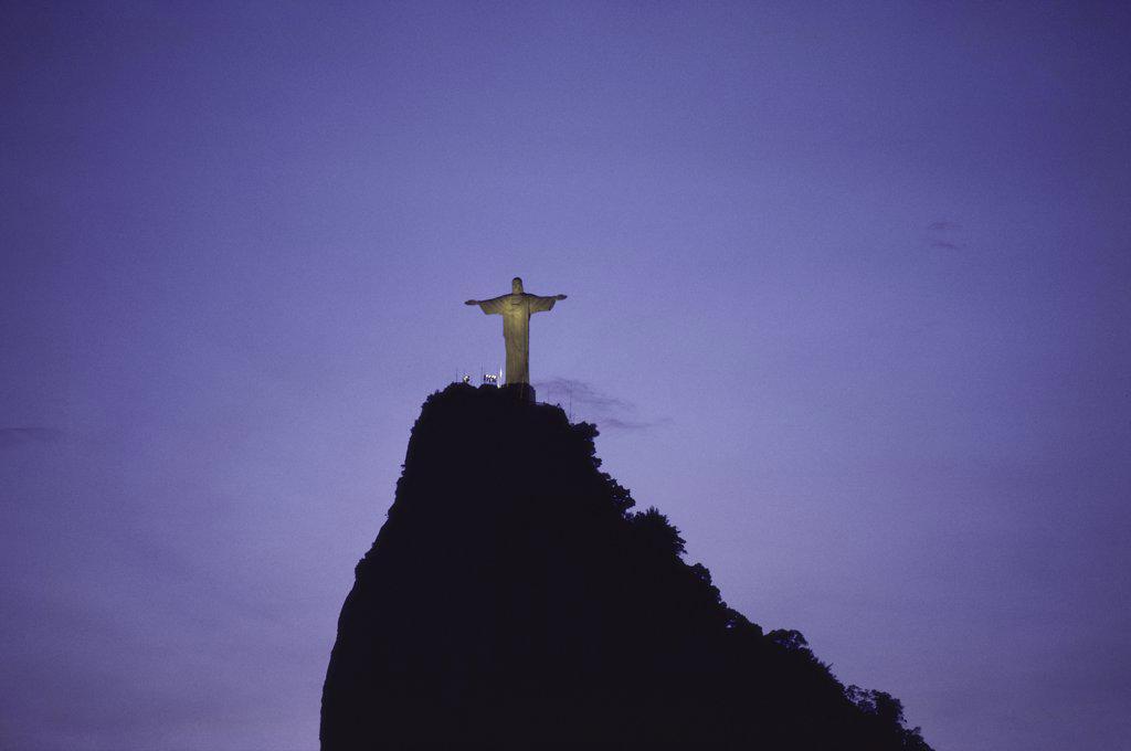 Stock Photo: 1574R-017979A Mount Corcovado  Rio de Janeiro  Brazil