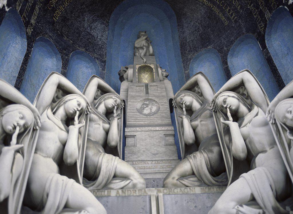 Stock Photo: 1574R-017995 Cemetery Monumental  Milan  Italy