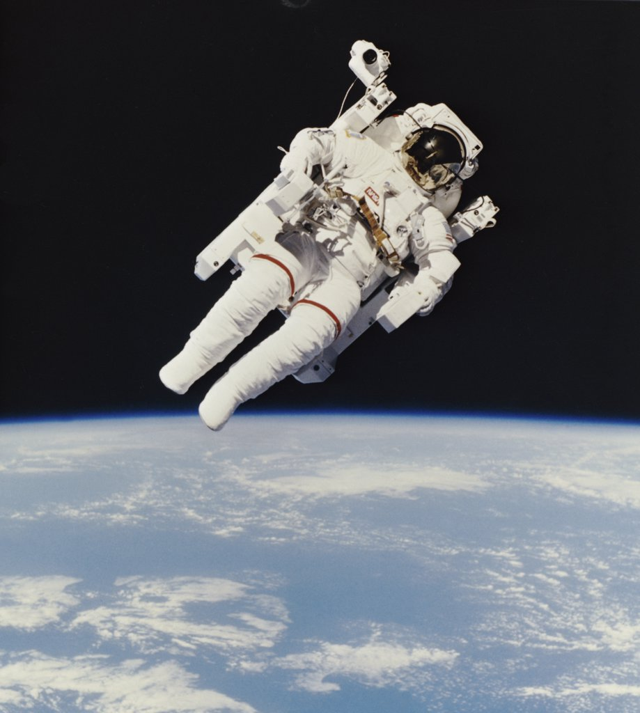 Bruce McCandless II from Space Shuttle Challenger