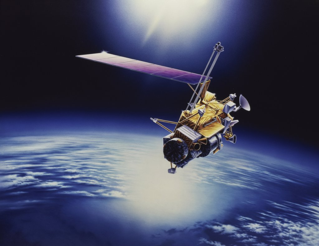 Upper Atmosphere Research Satellite (UARS) : Stock Photo