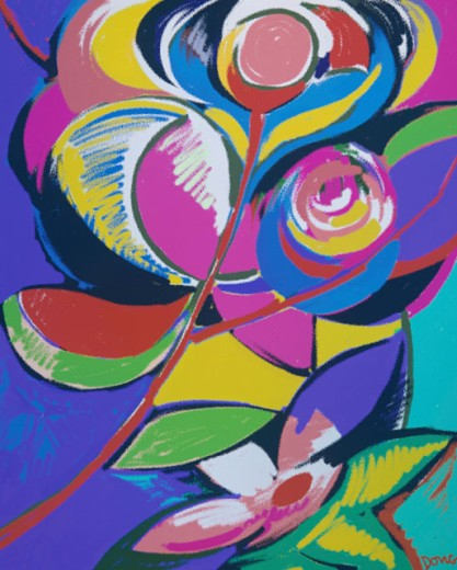 Stock Photo: 1574R-018242 Abstract Flowers