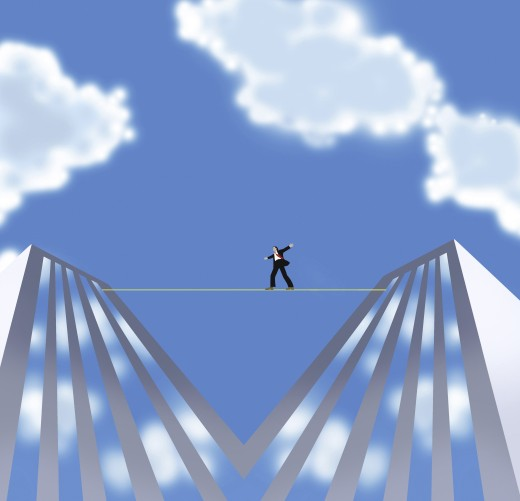 Man on a Tightrope