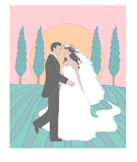 Stock Photo: 1574R-019047 Wedding & Poplars