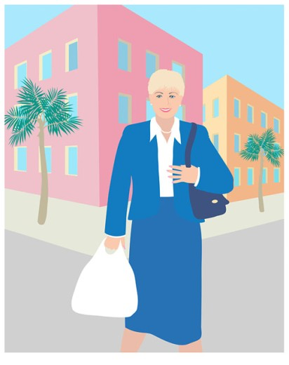 Stock Photo: 1574R-019081 The Blond Business Shopper