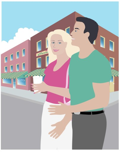 Stock Photo: 1574R-019090 Street Couple