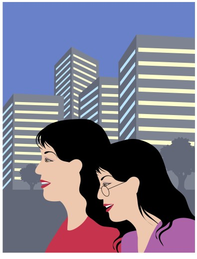 Oriental Gals in City