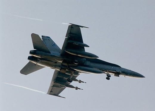Stock Photo: 1574R-019343 F/A-18C Hornet US Navy