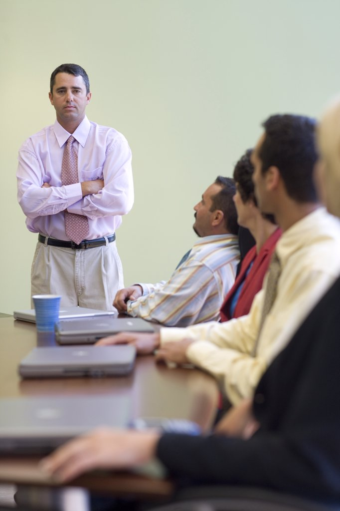 Business executives in a conference room : Stock Photo
