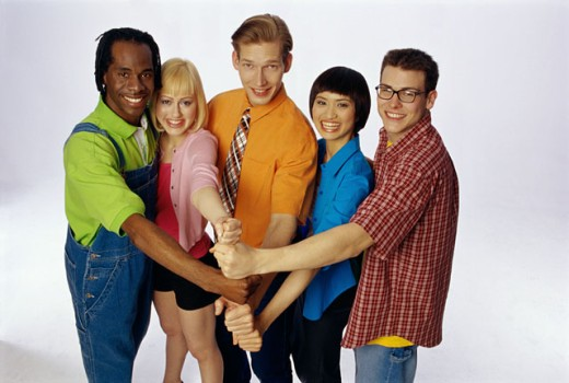 Stock Photo: 1574R-09810B Portrait of a group of young people