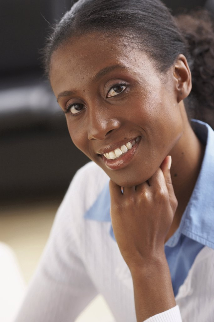 Stock Photo: 1574R-21012A Portrait of a businesswoman smiling