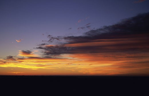 Stock Photo: 1574R-22133 Sunset in the sky, Kansas, USA