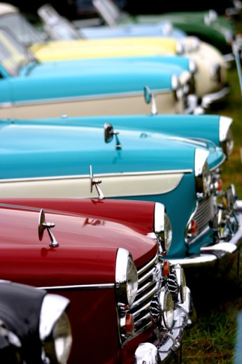 Stock Photo: 1574R-22285 Array of vintage cars