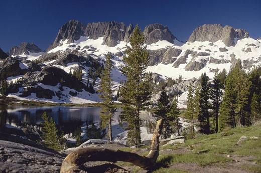 Stock Photo: 1574R-22923 Ediza Lake, Ansel Adams Wilderness, California, USA