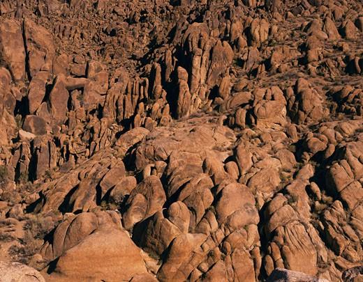 Stock Photo: 1574R-22931 Rock formation at Alabama Hills, Long Pine, California, USA