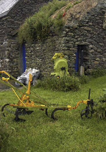 Stock Photo: 1574R-23213 Farming equipment in a field, Ireland