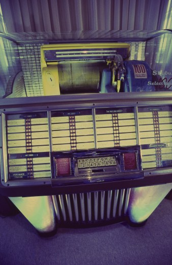 Stock Photo: 1574R-23243 Song list of a jukebox