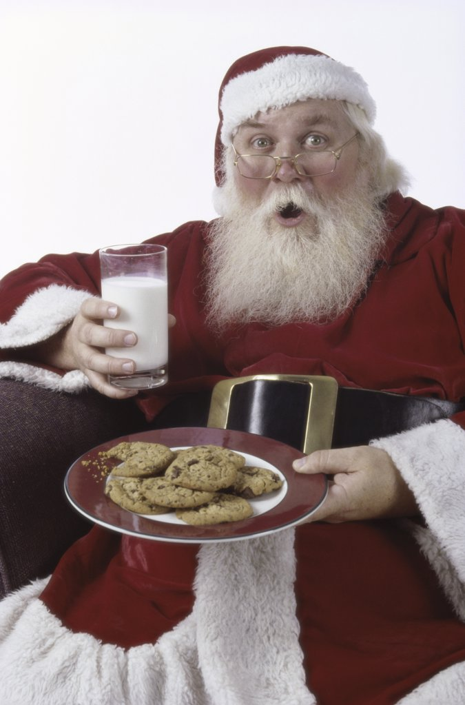 Portrait of a man dressed as Santa Claus : Stock Photo