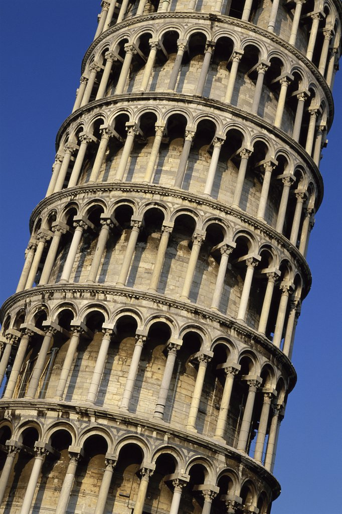 Stock Photo: 1574R-33009 Close-up of the Leaning Tower of Pisa, Italy