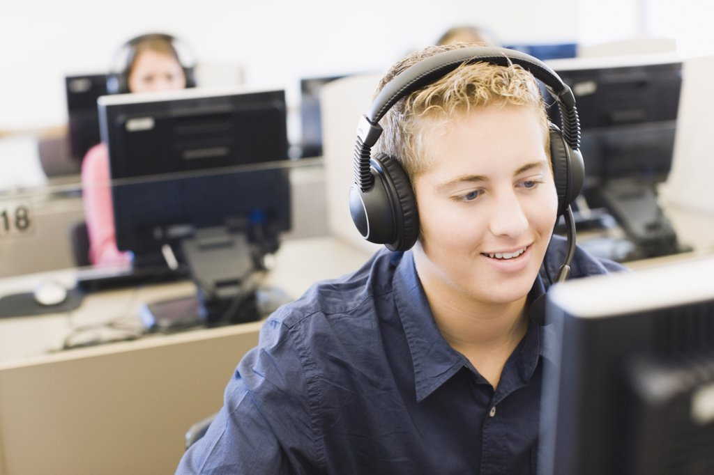 Stock Photo: 1574R-36115 Student in a training class