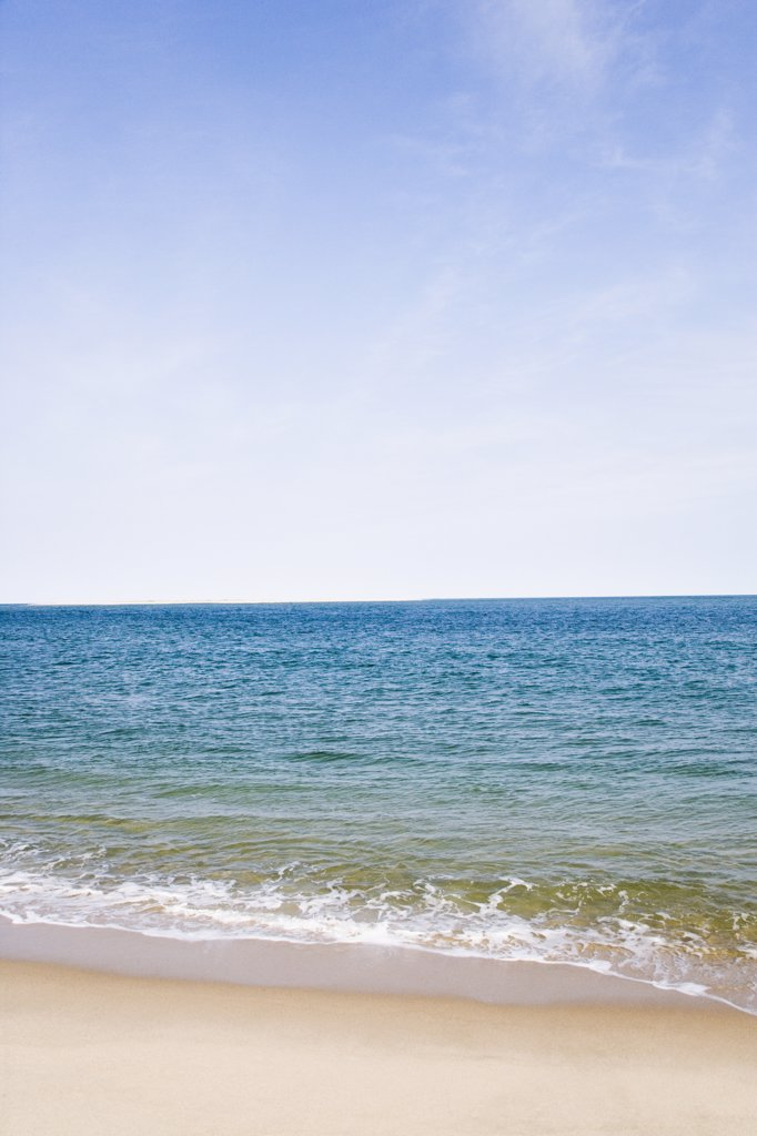 Panoramic view of the sea, Cape Cod, Massachusetts, USA : Stock Photo