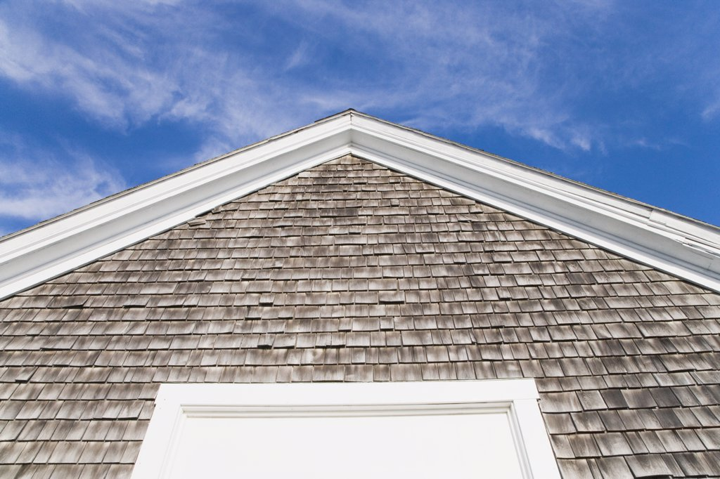 Low angle view of a house, Cape Cod, Massachusetts, USA : Stock Photo