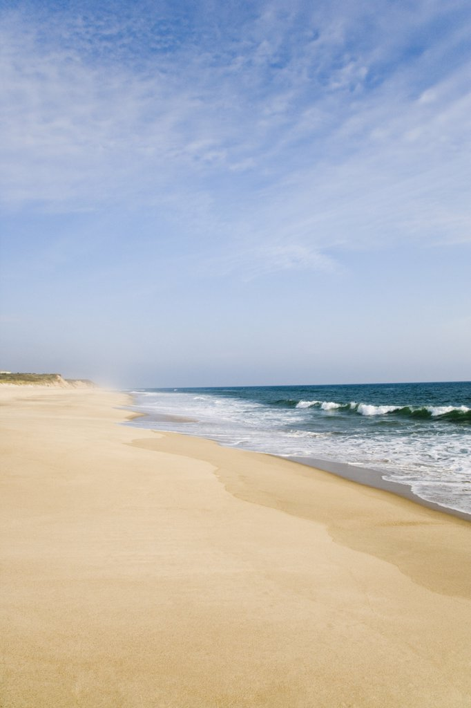 Panoramic view of the beach, Cape Cod, Massachusetts, USA : Stock Photo