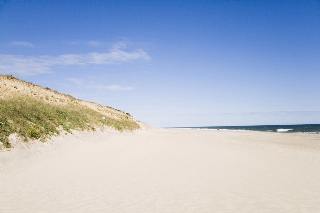 Panoramic view of the beach, Cape Cod, Massachusetts, USA : Stock Photo