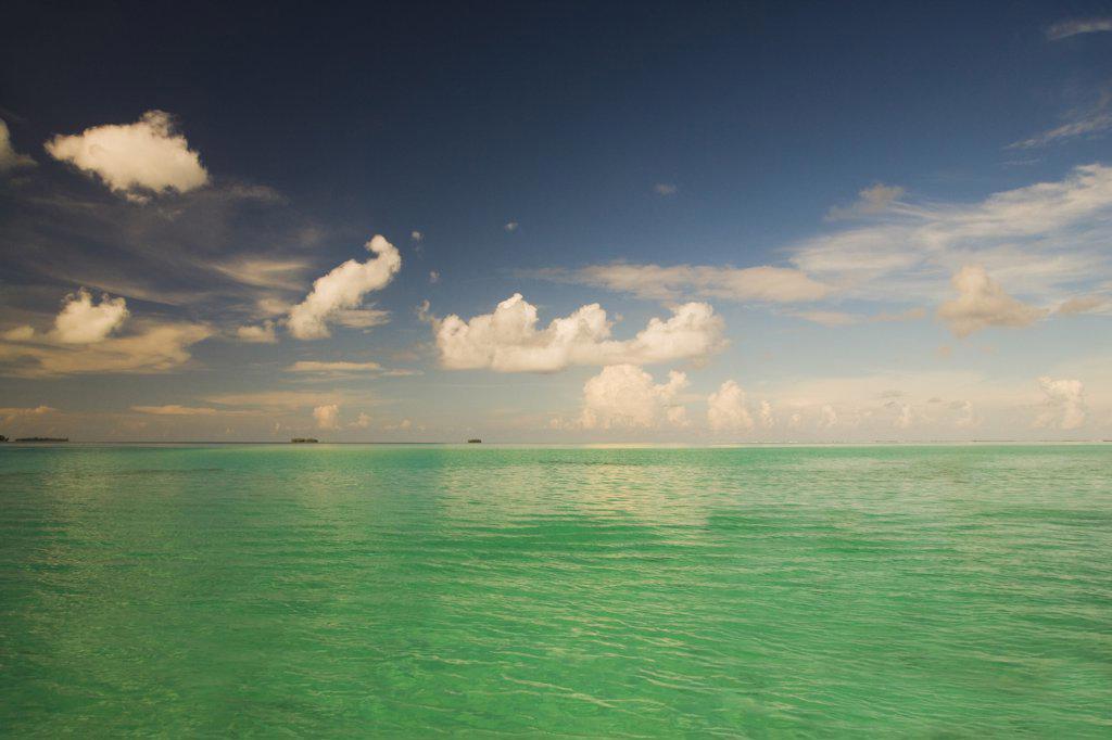 Stock Photo: 1574R-36900 Panoramic view of the sea, Tahaa, Tahiti, French Polynesia