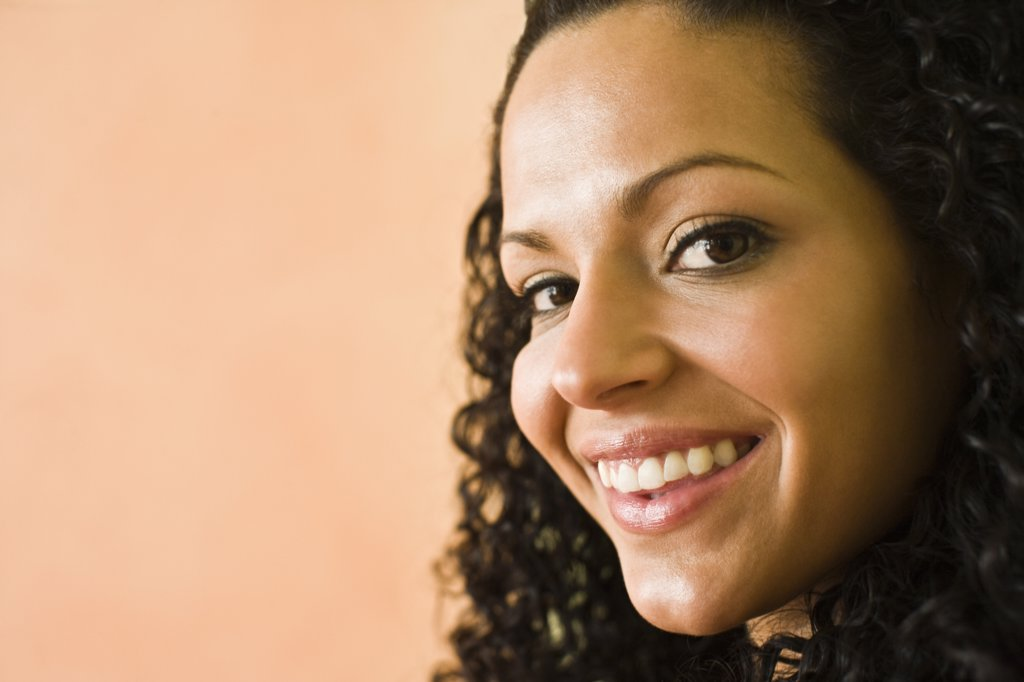 Stock Photo: 1574R-36918 Portrait of a woman smiling