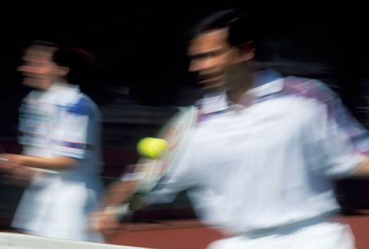 Tennis, blurred motion : Stock Photo