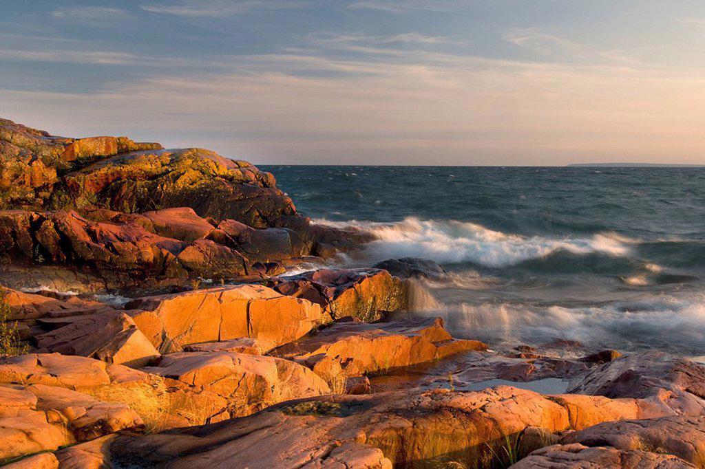 Red Rock Point, Killarney, Ontario, Canada : Stock Photo