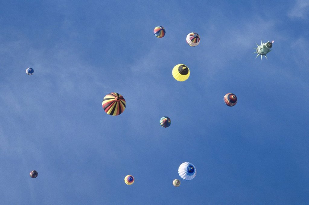 Hot Air balloons over Ottawa, Ontario : Stock Photo
