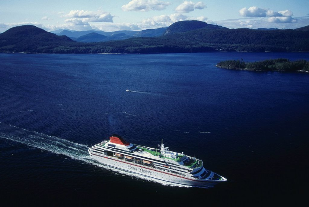 Crusie Ship, British Columbia : Stock Photo