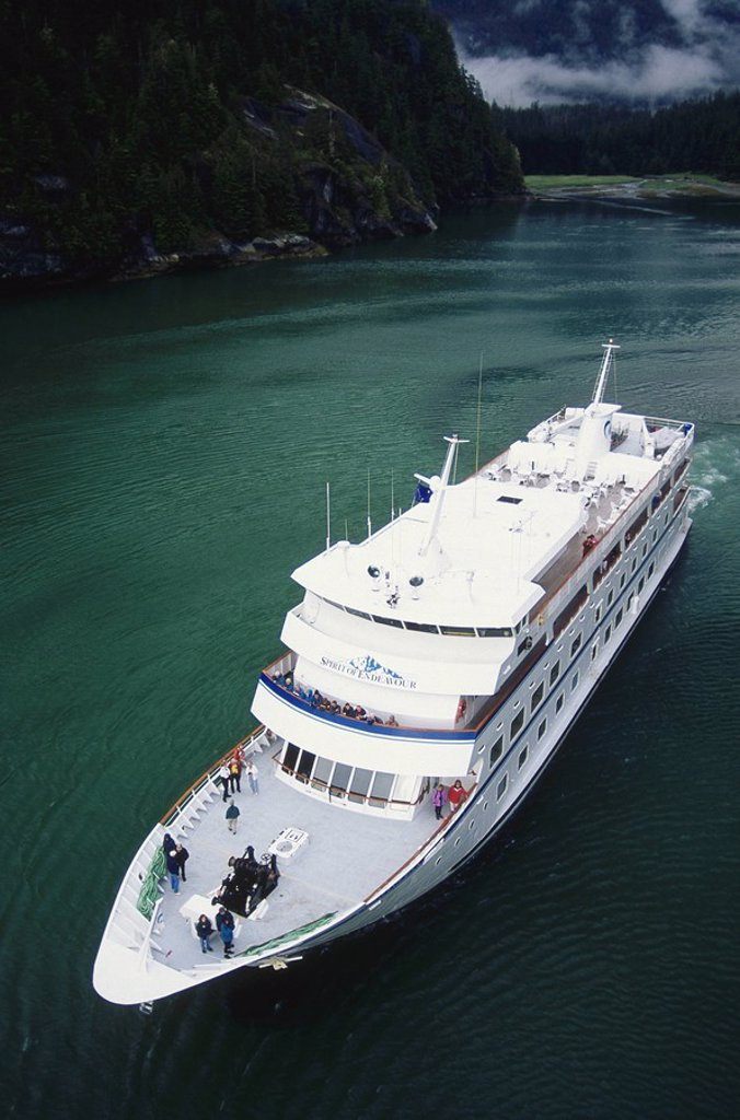 Aerial of cruise Ship : Stock Photo