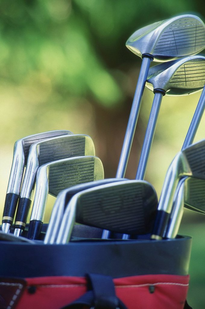Stock Photo: 1575-6297 Close up of golf clubs