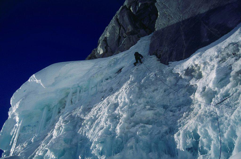 Ice Climbing : Stock Photo