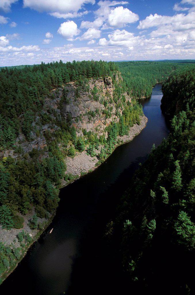 Stock Photo: 1575-8786 Aerial of Algonquin Provincial Park, Ontario, Canada