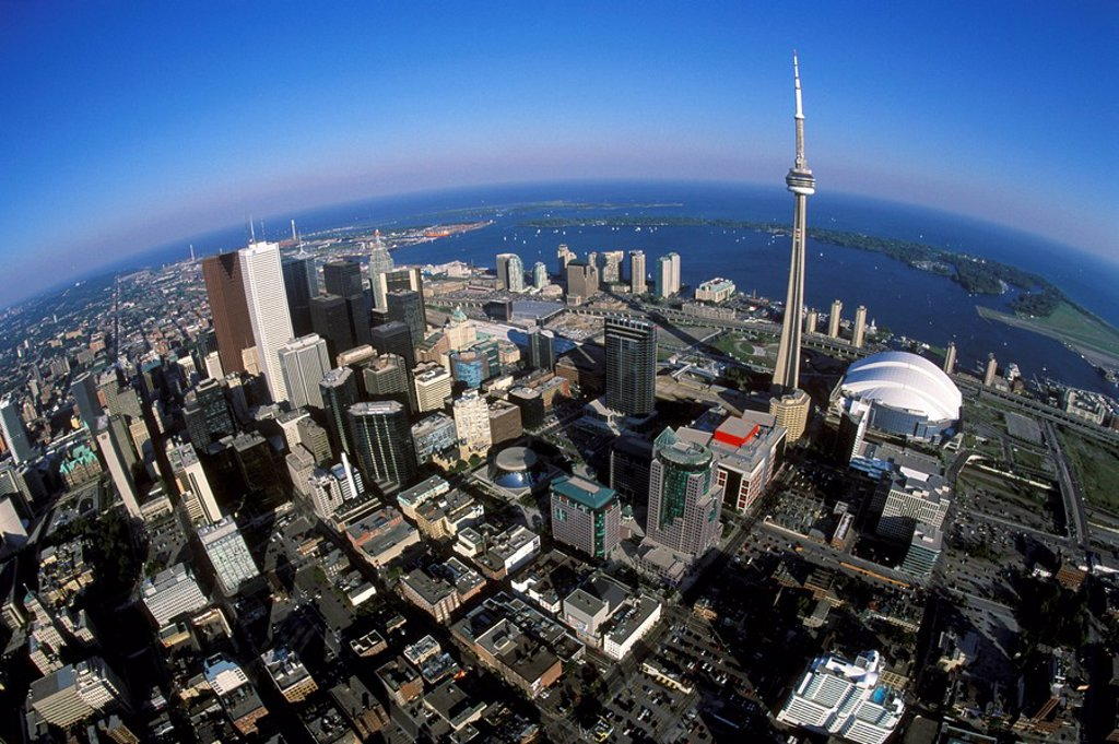 Stock Photo: 1575-8961 Aerial of Toronto, Ontario, Canada