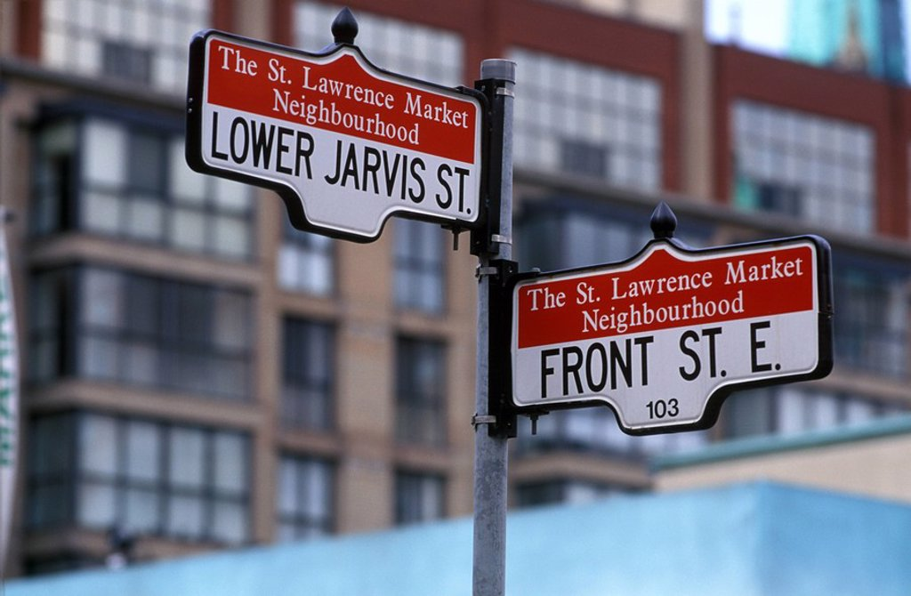 Stock Photo: 1575-9013 Street Signs, Toronto, Ontario, Canada