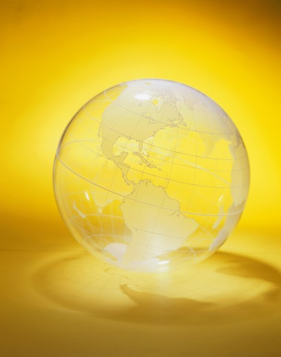 Stock Photo: 1579R-115 Close-up of a transparent globe