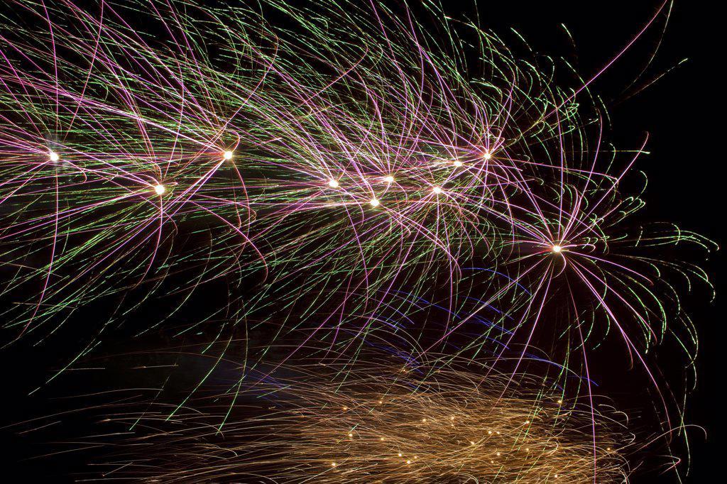 Stock Photo: 1580-475 Iceland, Reykjavik, New Years Eve, Fireworks