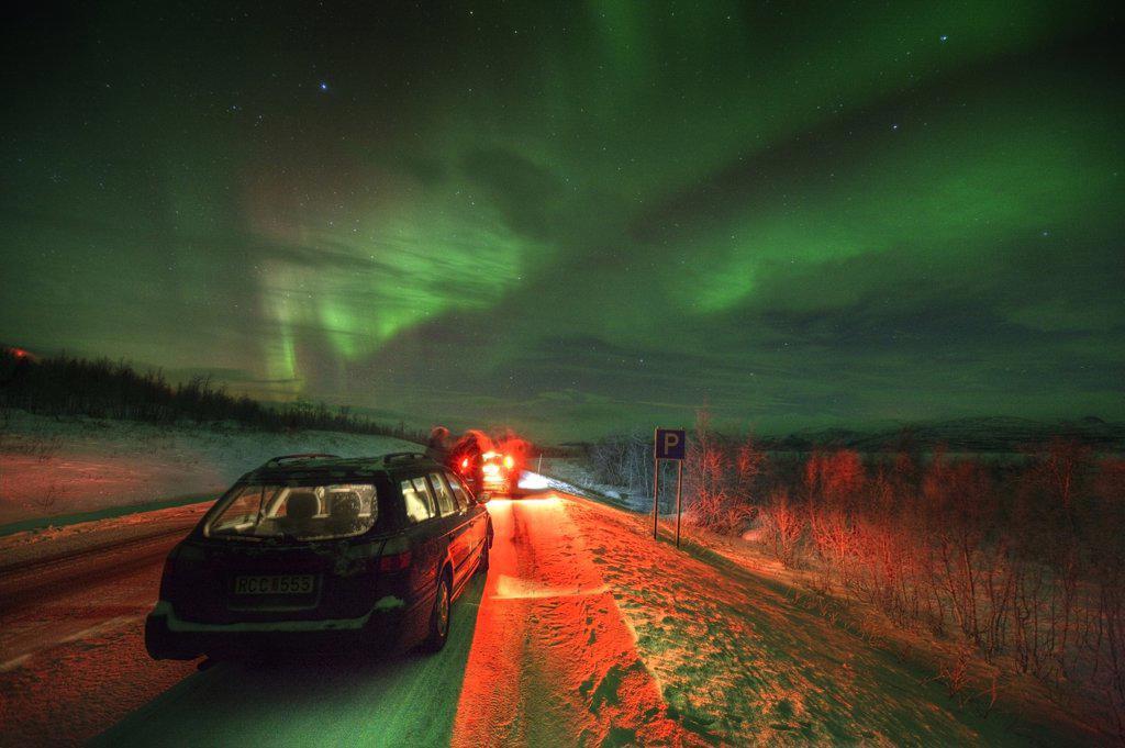 Stock Photo: 1580-504 Sweden, Lapland, Abisko, Northern Lights