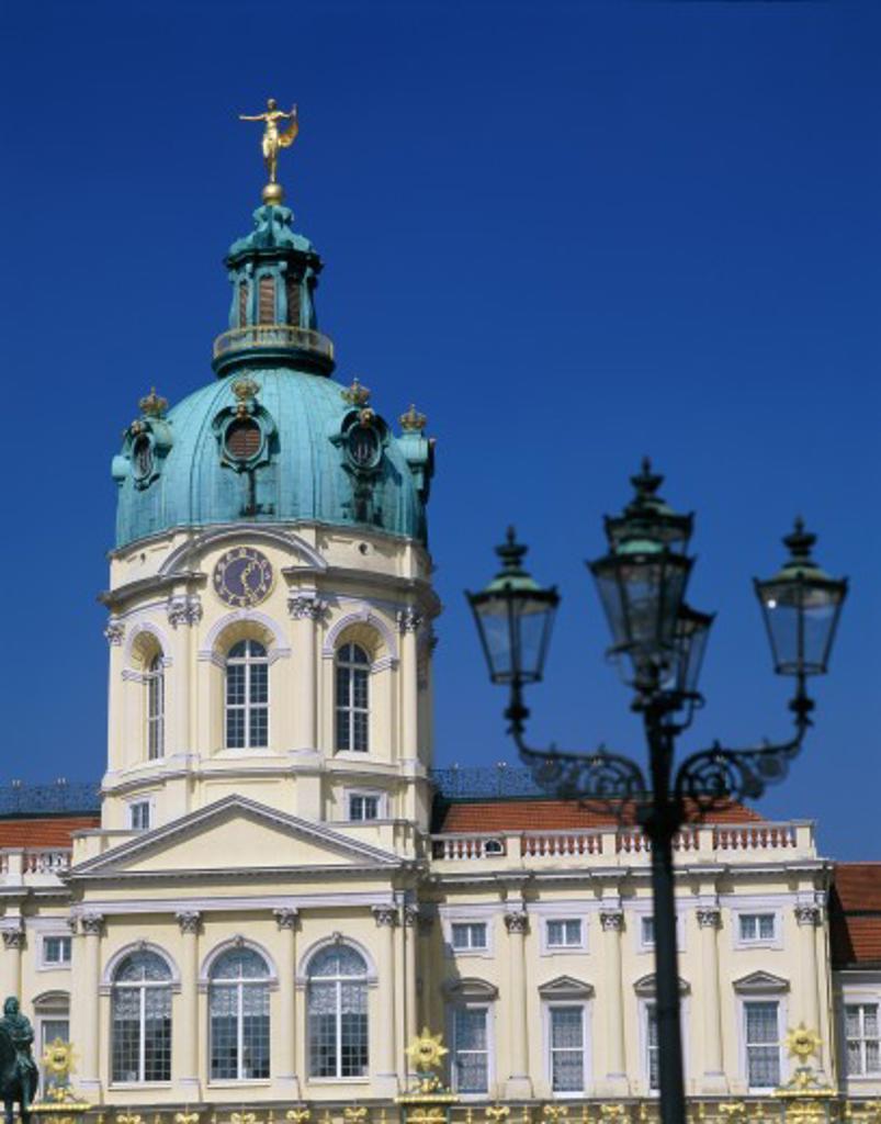Low angle view of a palace, Charlottenburg Palace, Berlin, Germany : Stock Photo