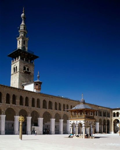 Stock Photo: 1581-202 Low angle view of a mosque, Omayyad Mosque, Damascus, Syria