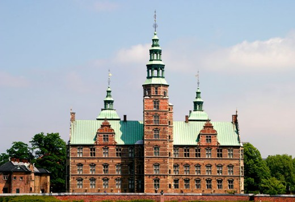 Facade of a castle, Rosenborg Castle, Copenhagen, Denmark : Stock Photo