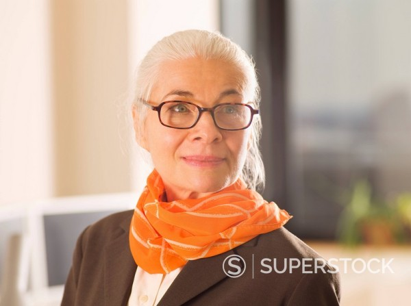 Stock Photo: 1589-137324 Caucasian woman with eyeglasses